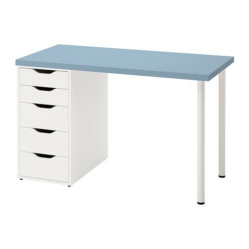 LAGKAPTEN/ALEX - desk, light blue/white | IKEA Hong Kong and Macau - PE813606_S4