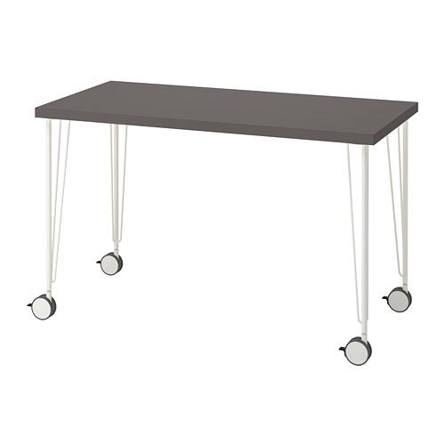 LAGKAPTEN/KRILLE - 書檯, 120x60cm, 深灰色/白色 | IKEA 香港及澳門 - PE813617_S4