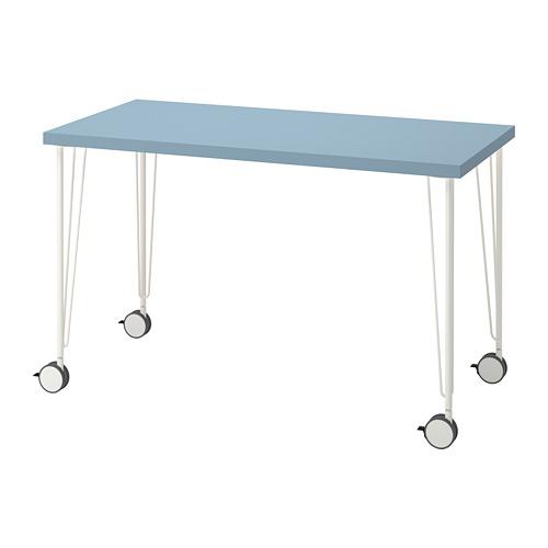 KRILLE/LAGKAPTEN - desk, light blue/white | IKEA Hong Kong and Macau - PE813618_S4