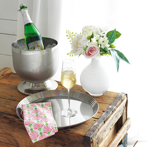 INBJUDEN - 餐巾, 白色/粉紅色 | IKEA 香港及澳門 - PE813628_S4