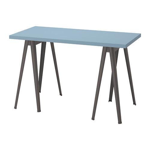 LAGKAPTEN/NÄRSPEL - 書檯, 120x60cm, 淺藍色/深灰色   IKEA 香港及澳門 - PE813660_S4