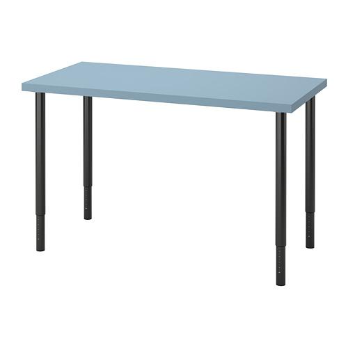 LAGKAPTEN/OLOV - desk, light blue/black | IKEA Hong Kong and Macau - PE813667_S4