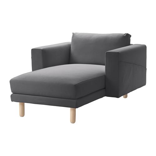 NORSBORG - chaise longue, Finnsta dark grey/birch   IKEA Hong Kong and Macau - PE558904_S4