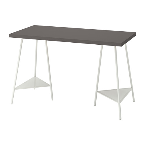 TILLSLAG/LAGKAPTEN - desk, dark grey/white | IKEA Hong Kong and Macau - PE813702_S4