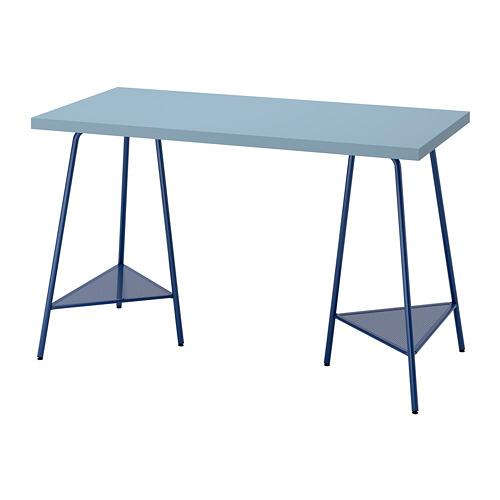 TILLSLAG/LAGKAPTEN - 書檯, 120x60cm, 淺藍色/深藍色 | IKEA 香港及澳門 - PE813703_S4