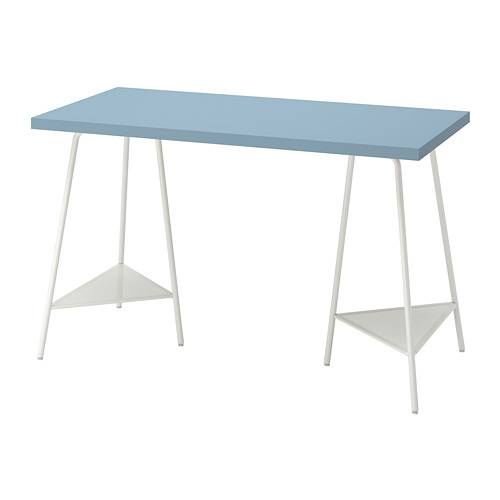 TILLSLAG/LAGKAPTEN - desk, light blue/white | IKEA Hong Kong and Macau - PE813705_S4