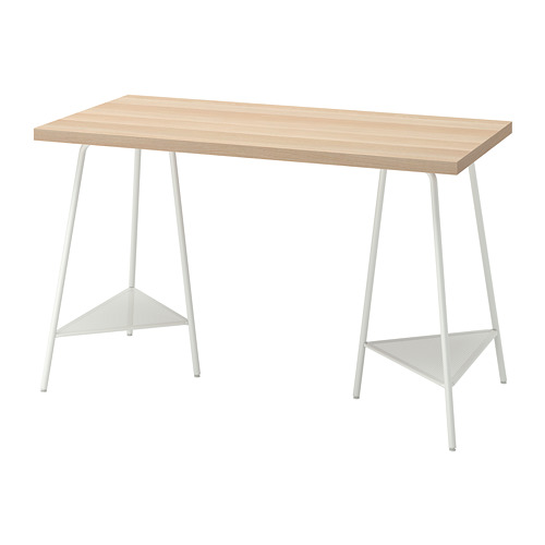 TILLSLAG/LAGKAPTEN - 書檯, 120x60cm, 染白橡木紋/白色 | IKEA 香港及澳門 - PE813715_S4