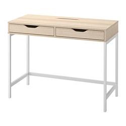 ALEX - desk, 100x48cm, white stained/oak effect | IKEA Hong Kong and Macau - PE813726_S3