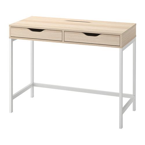 ALEX - desk, 100x48cm, white stained/oak effect | IKEA Hong Kong and Macau - PE813726_S4
