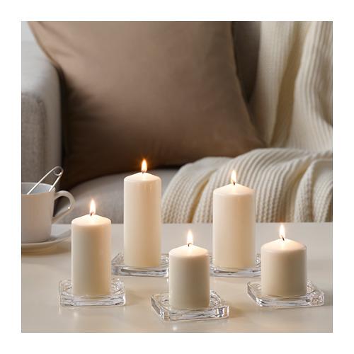 FENOMEN - 柱形蠟燭,5件套裝, 原色 | IKEA 香港及澳門 - PE670010_S4