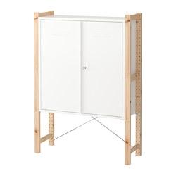 IVAR - cabinet with doors, 89x30x124 cm, pine/white | IKEA Hong Kong and Macau - PE668995_S3