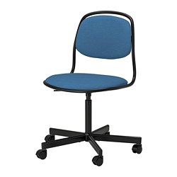ÖRFJÄLL - 旋轉椅, 黑色/Vissle 藍色 | IKEA 香港及澳門 - PE813975_S3