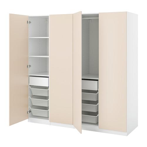 REINSVOLL/PAX - 衣櫃組合, 灰米黃色   IKEA 香港及澳門 - PE813998_S4