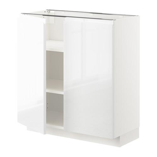 METOD - base cabinet with shelves/2 doors, white/Voxtorp high-gloss/white | IKEA Hong Kong and Macau - PE669123_S4