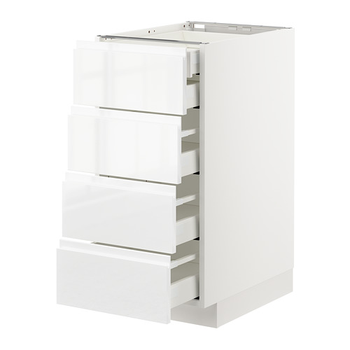 METOD - base cb 4 frnts/2 low/3 md drwrs, white Maximera/Voxtorp high-gloss/white | IKEA Hong Kong and Macau - PE669136_S4