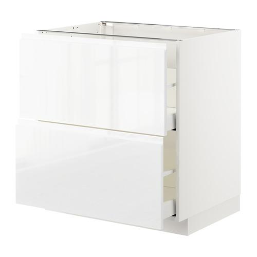 METOD - 廚櫃組合, 白色 Maximera/Voxtorp 光面白色 | IKEA 香港及澳門 - PE669141_S4