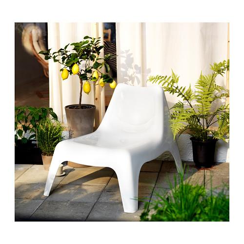 IKEA PS VÅGÖ - easy chair, outdoor, white | IKEA Hong Kong and Macau - PE316820_S4