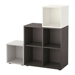 EKET - 貯物組合連櫃腳, 白色/深灰色/淺灰色 | IKEA 香港及澳門 - PE617373_S3