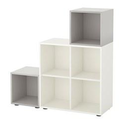 EKET - cabinet combination with feet, white/light grey | IKEA Hong Kong and Macau - PE617383_S3