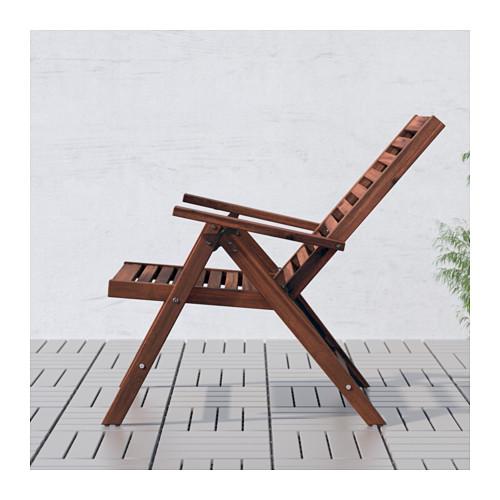 ÄPPLARÖ - 戶外躺椅, 可摺合 染褐色 | IKEA 香港及澳門 - PE617397_S4