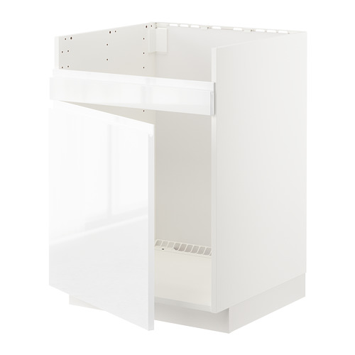 METOD base cab f HAVSEN single bowl sink