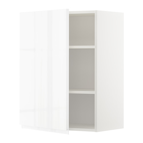 METOD - wall cabinet with shelves, white/Voxtorp high-gloss/white | IKEA Hong Kong and Macau - PE669245_S4