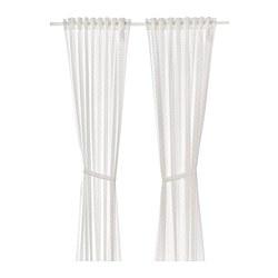 LEN - 窗簾連簾帶,一對, 點狀/白色 | IKEA 香港及澳門 - PE758870_S3