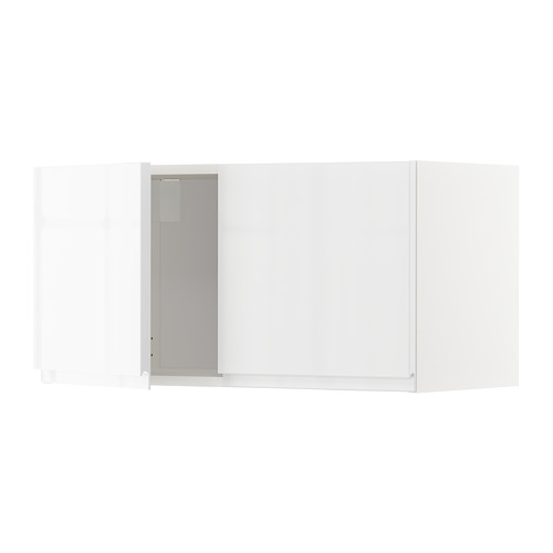 METOD - wall cabinet with 2 doors, white/Voxtorp high-gloss/white | IKEA Hong Kong and Macau - PE669247_S4