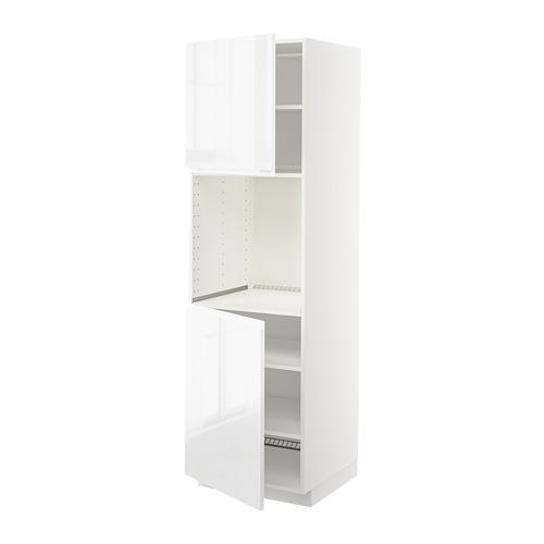 METOD - high cab f oven w 2 doors/shelves, white/Voxtorp high-gloss/white | IKEA 香港及澳門 - PE669288_S4