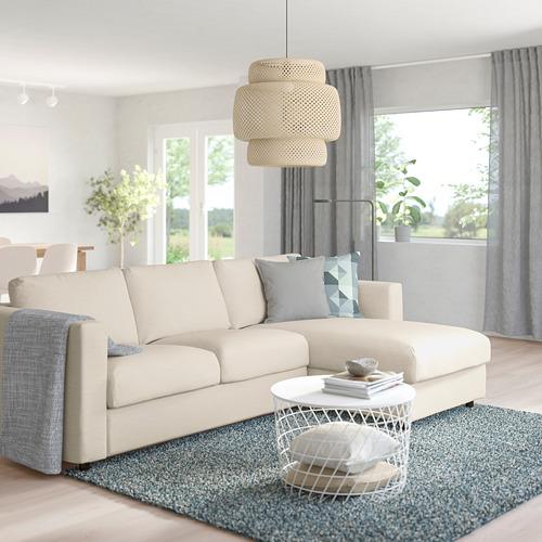 VIMLE - 3-seat sofa-bed with chaise longue, Gunnared beige | IKEA Hong Kong and Macau - PE758882_S4