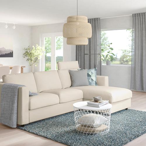 VIMLE - 3-seat sofa with chaise longue, with headrest/Gunnared beige | IKEA Hong Kong and Macau - PE758977_S4
