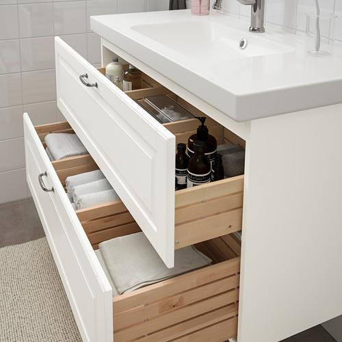 ODENSVIK/GODMORGON - 雙抽屜洗手盆櫃, Kasjön white/Hamnskär tap   IKEA 香港及澳門 - PE758984_S4