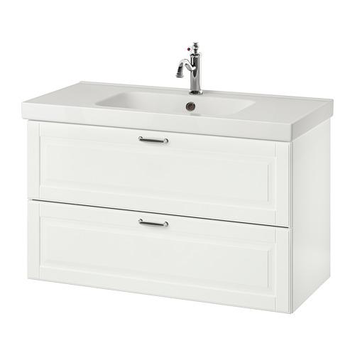 ODENSVIK/GODMORGON - 雙抽屜洗手盆櫃, Kasjön white/Hamnskär tap   IKEA 香港及澳門 - PE758985_S4