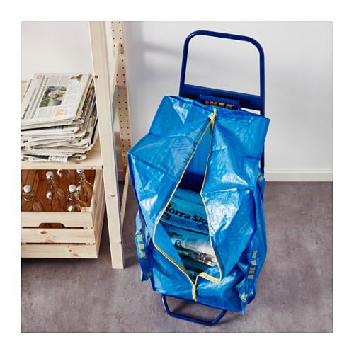 FRAKTA - 手拉車連購物袋, 藍色 | IKEA 香港及澳門 - PE617661_S4