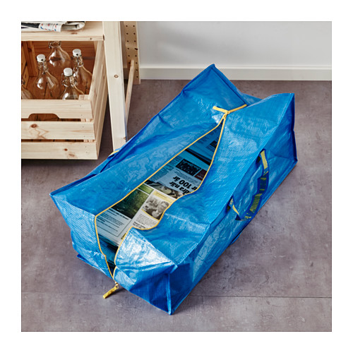 FRAKTA - 手拉車用購物袋, 藍色   IKEA 香港及澳門 - PE617662_S4