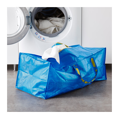 FRAKTA - 手拉車用購物袋, 藍色   IKEA 香港及澳門 - PE617666_S4