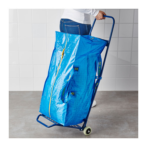FRAKTA - 手拉車連購物袋, 藍色 | IKEA 香港及澳門 - PE617668_S4