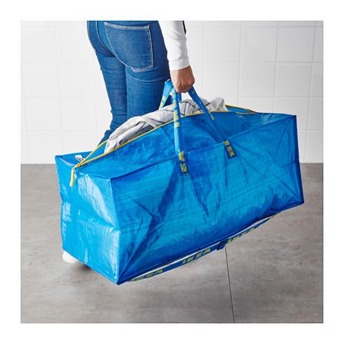 FRAKTA - 手拉車用購物袋, 藍色   IKEA 香港及澳門 - PE617671_S4
