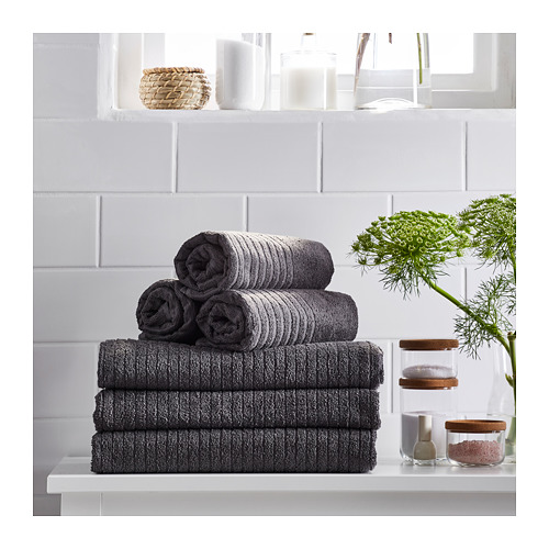 VÅGSJÖN - hand towel, dark grey | IKEA Hong Kong and Macau - PE719376_S4