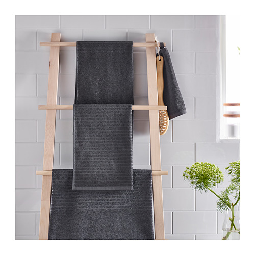 VÅGSJÖN - hand towel, dark grey | IKEA Hong Kong and Macau - PE719377_S4