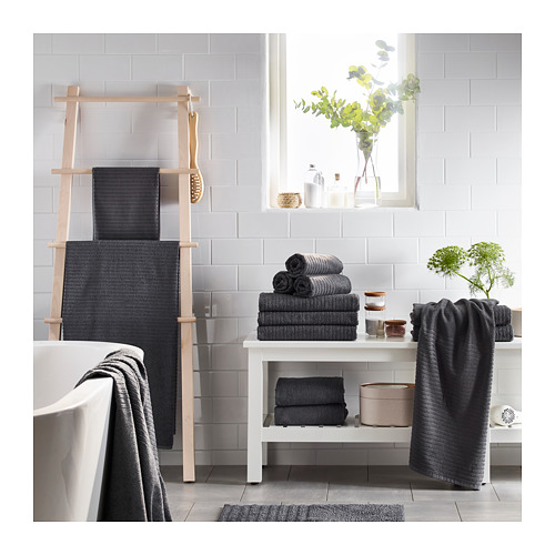 VÅGSJÖN - hand towel, dark grey | IKEA Hong Kong and Macau - PE719378_S4