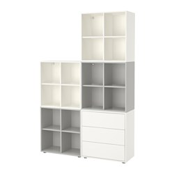 EKET - 貯物組合連櫃腳, 白色/淺灰色 | IKEA 香港及澳門 - PE617808_S3