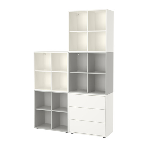EKET - cabinet combination with feet, white/light grey | IKEA Hong Kong and Macau - PE617808_S4