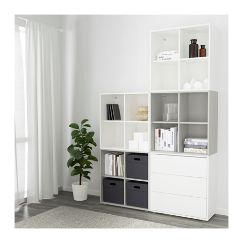 EKET - cabinet combination with feet, white/light grey | IKEA Hong Kong and Macau - PE617811_S4