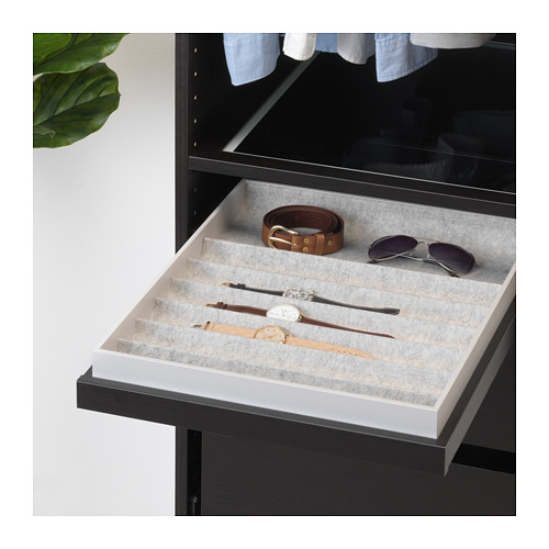 KOMPLEMENT - pull-out tray with insert, black-brown | IKEA Hong Kong and Macau - PE670986_S4