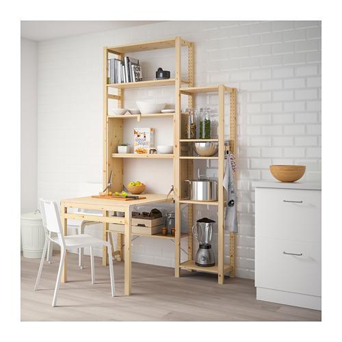IVAR - 2 sec/storage unit w foldable table, 134x104x226 cm | IKEA Hong Kong and Macau - PE669783_S4