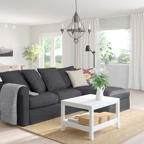 GRÖNLID - 3-seat sofa, with chaise longue/Sporda dark grey   IKEA Hong Kong and Macau - PE759083_S4