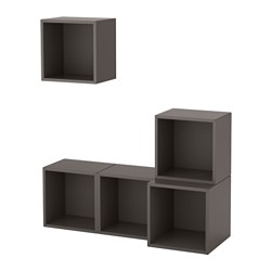 EKET - wall-mounted cabinet combination, dark grey | IKEA Hong Kong and Macau - PE617880_S3