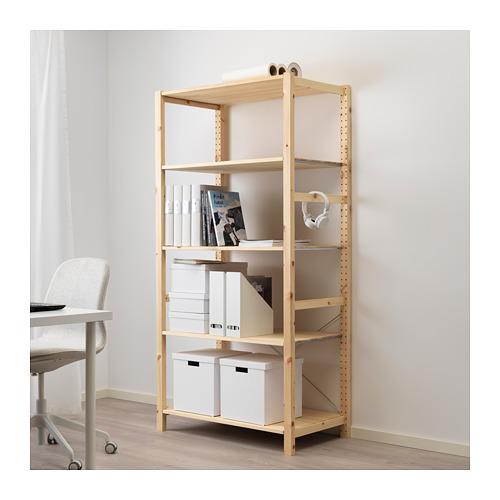 IVAR - 層架組合, 89x50x179 cm, 松木   IKEA 香港及澳門 - PE669772_S4