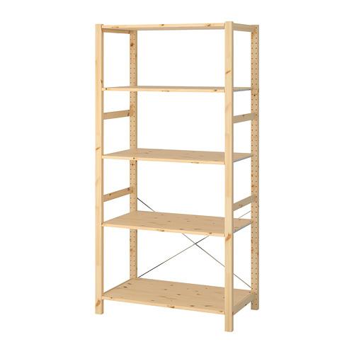 IVAR - 層架組合, 89x50x179 cm, 松木   IKEA 香港及澳門 - PE669773_S4